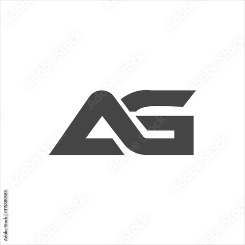 Initial letter ga or ag logo vector design template Wallpaper Mural