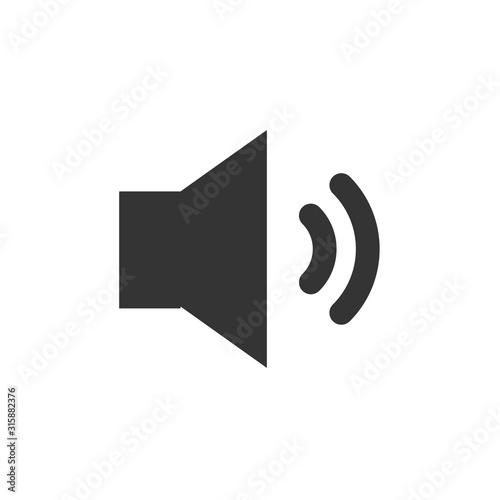 Fotografía  volume icon vector illustration for website and graphic design