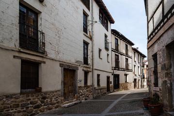 Fototapeta na wymiar Scenic view of the old medieval town of Covarrubias in Burgos, Castile and Leon, Spain.