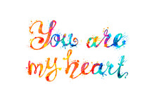 You Are My Heart. Inscription ...