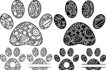 Coloring Pages, Zentangle Paws...