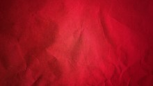 Crumpled Red Thick Paper. Brig...