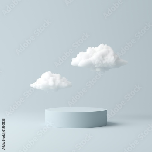 Obraz Abstract background, mock up scene geometry shape podium for product display. 3D rendering - fototapety do salonu