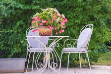 Cozy Patio With Vintage Table ...