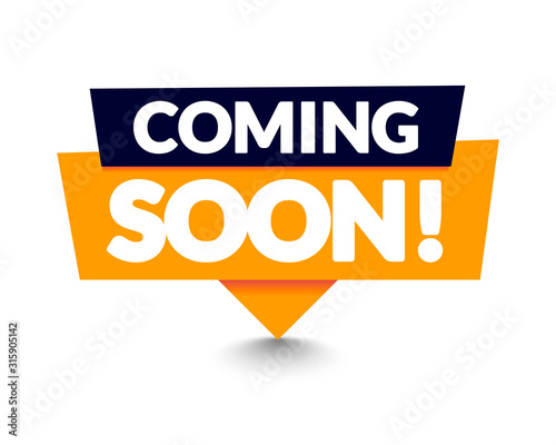 Photo Vector Illustration Modern Coming Soon Banner Icon