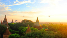Sunrise In Bagan Archeologial ...