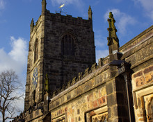 The Tower Of Mediaeval Holy Trinity Church In Skipton Has Twice Been Struck By Lightning