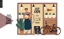 Cat Cafe -small Business Graph...