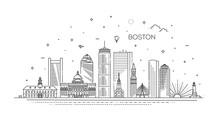 Boston Architecture Line Skyli...