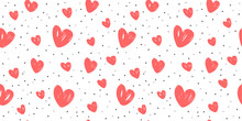 Abstract Background With Hearts. Love, Wedding Vector