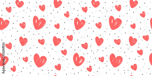 Leinwand Poster Abstract background with hearts. Love, wedding vector