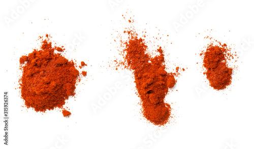 Obraz na plátně Cayenne Pepper Powder Isolated On White Background