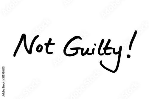 Canvastavla  Not Guilty