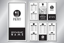 Vintage/ Retro Restaurant Menu...