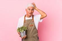 Middle Aged Gardener Man Isola...