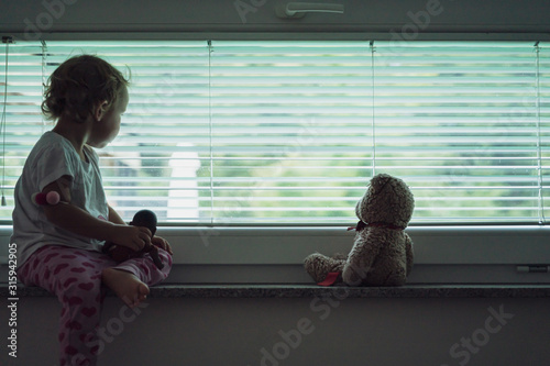 Conceptual image of child abuse and abandonment Wallpaper Mural