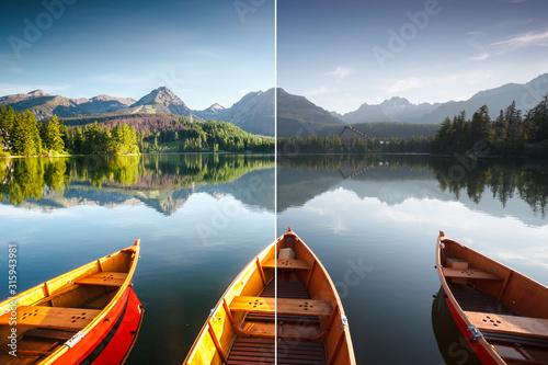 Stunning lake in National Park High Tatra Tablou Canvas