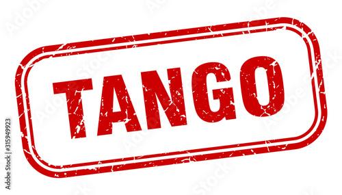 tango stamp. tango square grunge red sign Wallpaper Mural