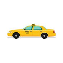 Taxi Yellow Car Cab.