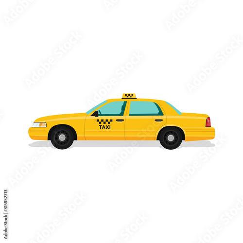 Fotografia Taxi yellow car cab.