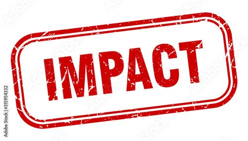 Photo impact stamp. impact square grunge red sign