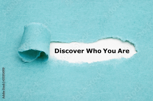 Fototapeta Discover Who You Are Finding Yourself Concept obraz