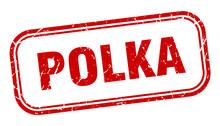 Polka Stamp. Polka Square Grun...