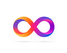 Infinity Symbol With Color Gra...
