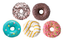 Set Of Various Colorful Donuts...
