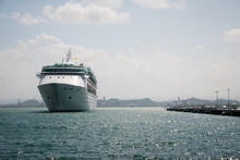 A Cruise Ship In The Harbor In...