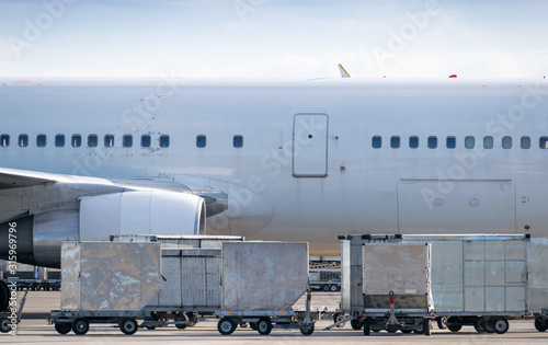 Aircraft cargo containers Canvas Print