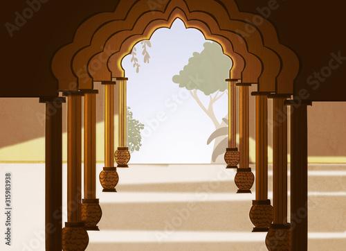 Fototapeta arkady   sala-palacu-indyjskiego