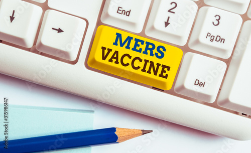 Fotografie, Tablou  Word writing text Mers Vaccine