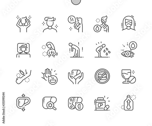 Obraz Hepatitis Well-crafted Pixel Perfect Vector Thin Line Icons 30 2x Grid for Web Graphics and Apps. Simple Minimal Pictogram - fototapety do salonu