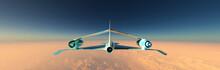 Airplane Prototype Furrowing The Sky