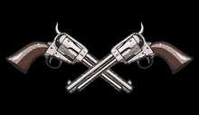 Hand Drawn Revolvers Vector Il...
