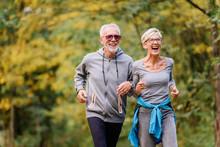 Cheerful Active Senior Couple ...