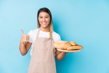 Young Caucasian Baker Woman Is...