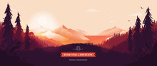 Beautiful Vector Landscape Ill...
