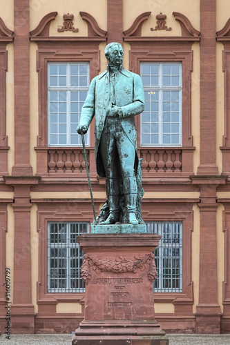 Fotografie, Obraz Statue of Charles Frederick (Karl Friedrich), Grand Duke of Baden in front of Mannheim Palace, Germany
