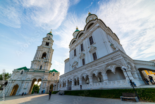 Uspensky Cathedral and Bell Tower of the Kremlin in Astrakhan, Russia Canvas Print