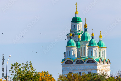 Uspensky Cathedral of the Kremlin in Astrakhan, Russia Canvas Print