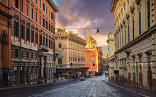 Rome, Italy. Deserted Evening ...