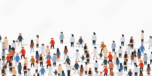 Large group of people on white background. People communication concept. - 316021576