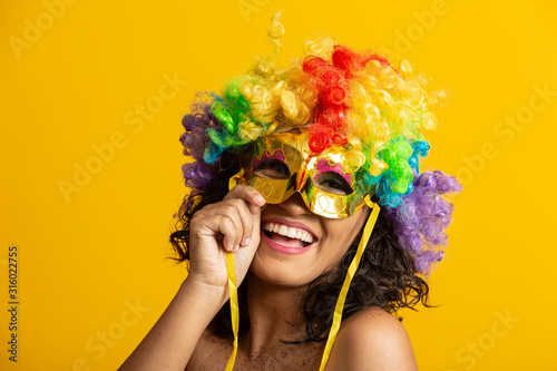 Beautiful woman dressed for carnival night Wallpaper Mural