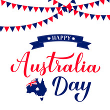 Happy Australia Day Calligraph...