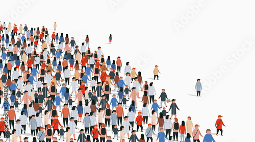 Photo Large group of people on white background