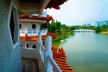 Twin Pagoda In Chinese Garden ...