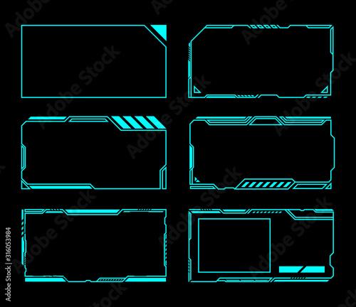Fotografering Frame set technology future interface hud .