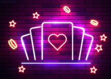 Casino Poker Signs. Neon Logos...